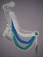 Аксельбант белый-синий-бирюзовый , фото 1