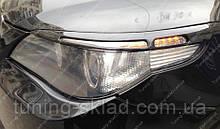 Вії BMW E60 (накладки на передні фари БМВ Е60)