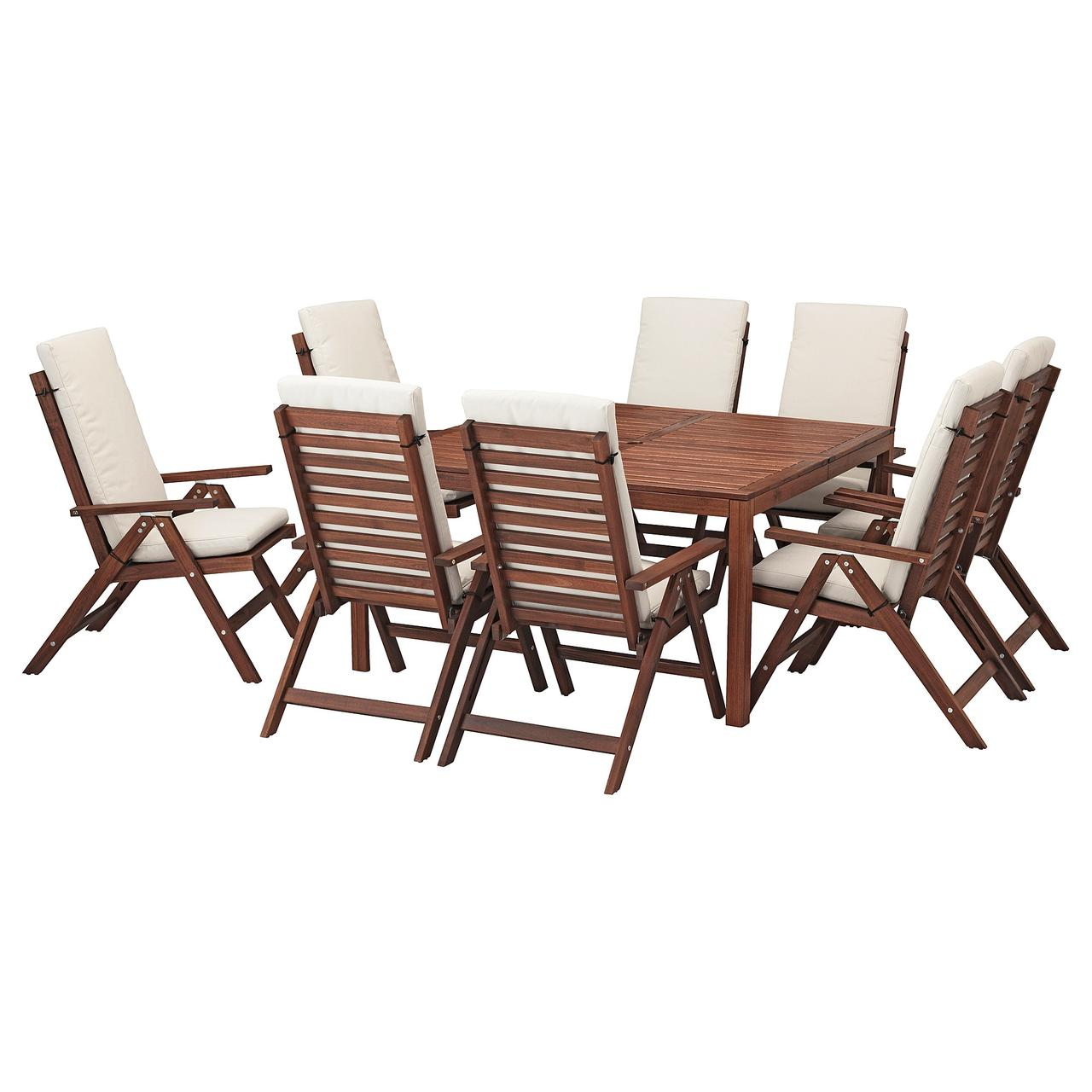 IKEA ÄPPLARÖ Стол+8 кресел