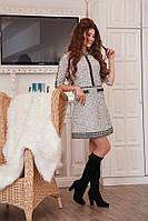 Серое народно-традиционное платье