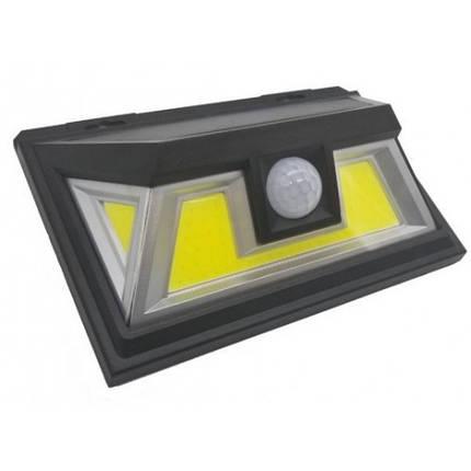 Светильник 10W на солнечной батарее с датчиком движения. Светодиодный светильник настенный Led, фото 2