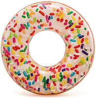 Круг для плавания Пончик с присыпкой Intex 56263