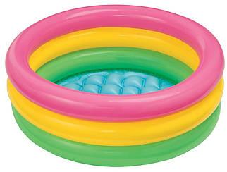 Детский яркий надувной бассейн Intex 58924