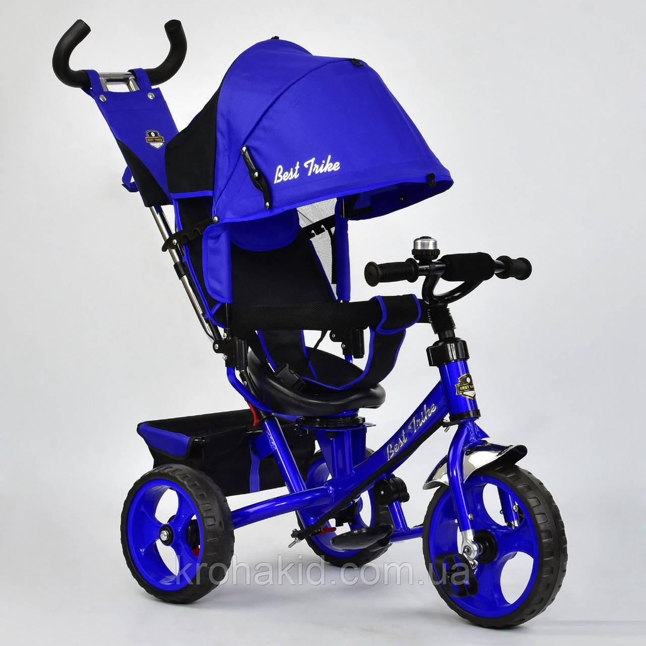Велосипед трехколесный 5700 - 4560 СИНИЙ ПОВОРОТНОЕ СИДЕНЬЕ, КОЛЕСА EVA (ПЕНА)