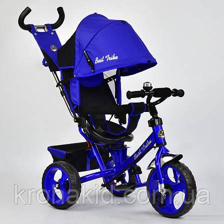 Велосипед трехколесный 5700 - 4560 СИНИЙ ПОВОРОТНОЕ СИДЕНЬЕ, КОЛЕСА EVA (ПЕНА) , фото 2