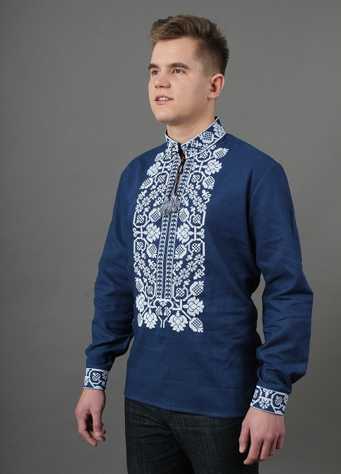 Праздничная сорочка вышиванка из льна для мужчин