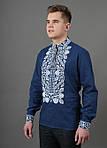 Традиционная мужская сорочка вышиванка материал лен, фото 3