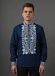 Традиционная мужская сорочка вышиванка материал лен, фото 4