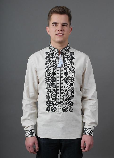 Традиционная мужская сорочка вышиванка материал лен