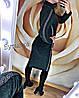 """Платье-гольф миди из ангоры """"Lurex"""" бордовый, фото 5"""