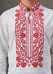 Льняная вышитая сорочка для мужчин с богато расшитым орнаментом, фото 4