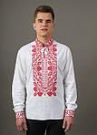 Льняная вышитая сорочка для мужчин с богато расшитым орнаментом, фото 3