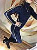 """Платье-гольф миди из ангоры """"Lurex"""" черный, фото 3"""