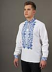 Льняная вышитая сорочка для мужчин с богато расшитым орнаментом, фото 2