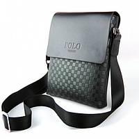✅ Мужская сумка кожаная, чоловіча сумка, шкіряна сумка на плечо, барсетка, POLO VIDENG