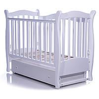 Детская кроватка Соня ЛД15 белая (маятник, ящик) Верес