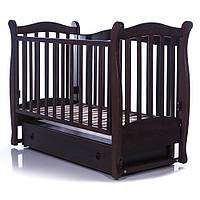 Детская кроватка  Соня ЛД15 орех (маятник, ящик) Верес