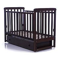 Детская кроватка  Соня ЛД12 орех  (маятник,ящик) Верес