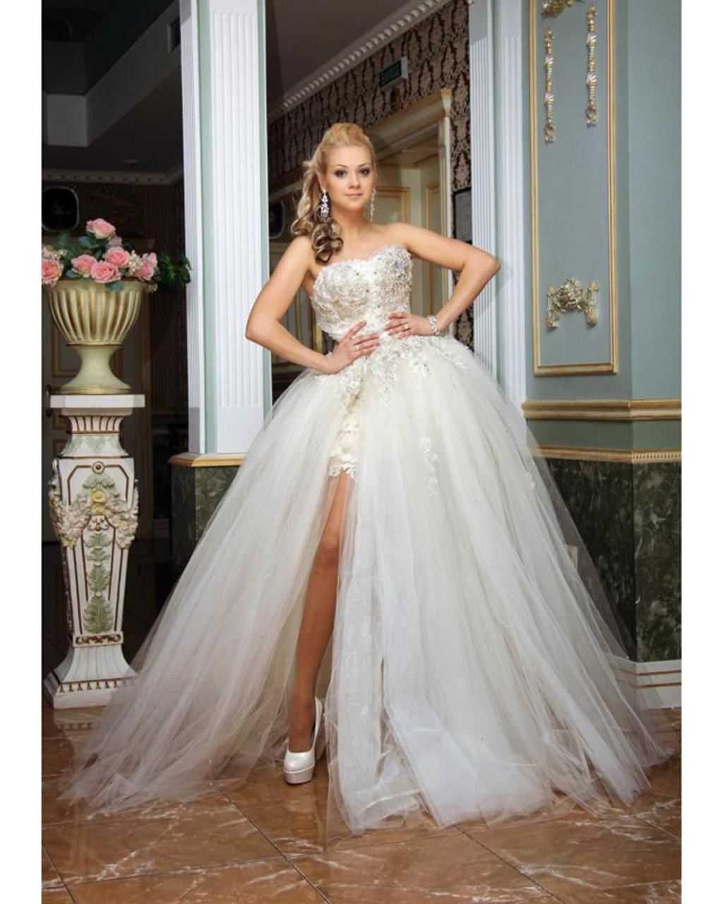 6de48997b145d9 Свадебное платье цвет айвори трансформер короткое с отстегивающейся юбкой -  Свадебный Шик в Харькове