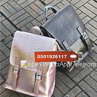 Стильные кожаные рюкзачки трансформеры , рюкзак кожа KT32245 цвет пудра , фото 1