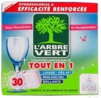 Таблетки для посудомоечных машин L'arbre Vert 30шт