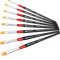 Кисточка художественная синтетика плоская №4 Rosa Start длинная ручка 102/18610204