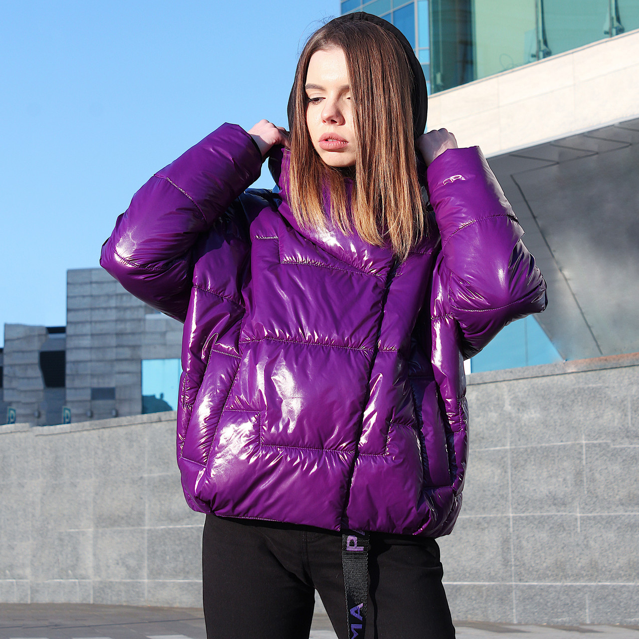 Куртка женская демисезонная Paradigma Puffy Jacket фиолетовая