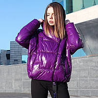 Куртка женская демисезонная Paradigma Puffy Jacket фиолетовая, фото 1