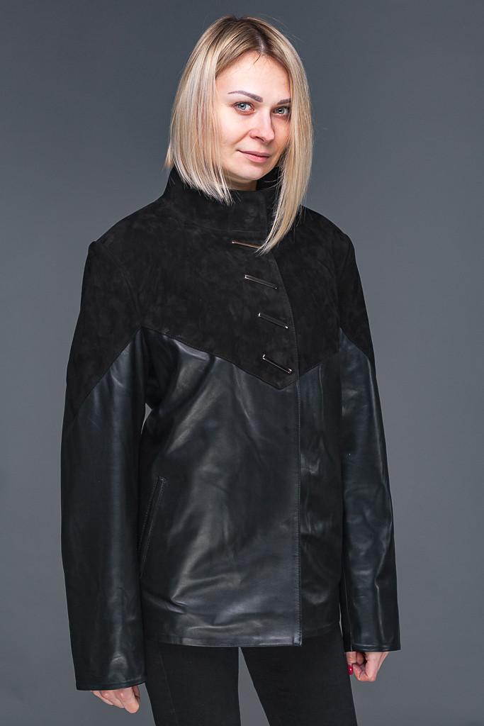 Женская кожаная куртка комбинирована замшей XL-6XL