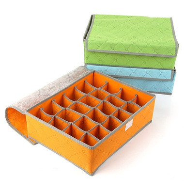 Органайзер для нижнего белья на 24 ячейки оранжевый 01093/03