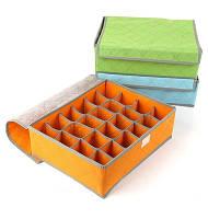 Органайзер для нижнего белья на 24 ячейки оранжевый 01093/03, фото 1