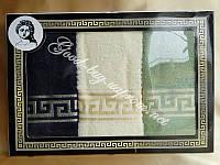 Комплект полотенец  Gulcan - Versace махра кухня 3шт 30х50 Tурция   pr-100