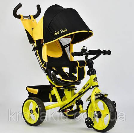 Велосипед трехколесный 5700 - 4890 ЖЕЛТЫЙ ПОВОРОТНОЕ СИДЕНЬЕ, КОЛЕСА EVA (ПЕНА) , фото 2