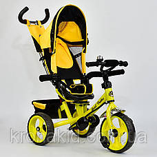 Велосипед трехколесный 5700 - 4890 ЖЕЛТЫЙ ПОВОРОТНОЕ СИДЕНЬЕ, КОЛЕСА EVA (ПЕНА) , фото 3