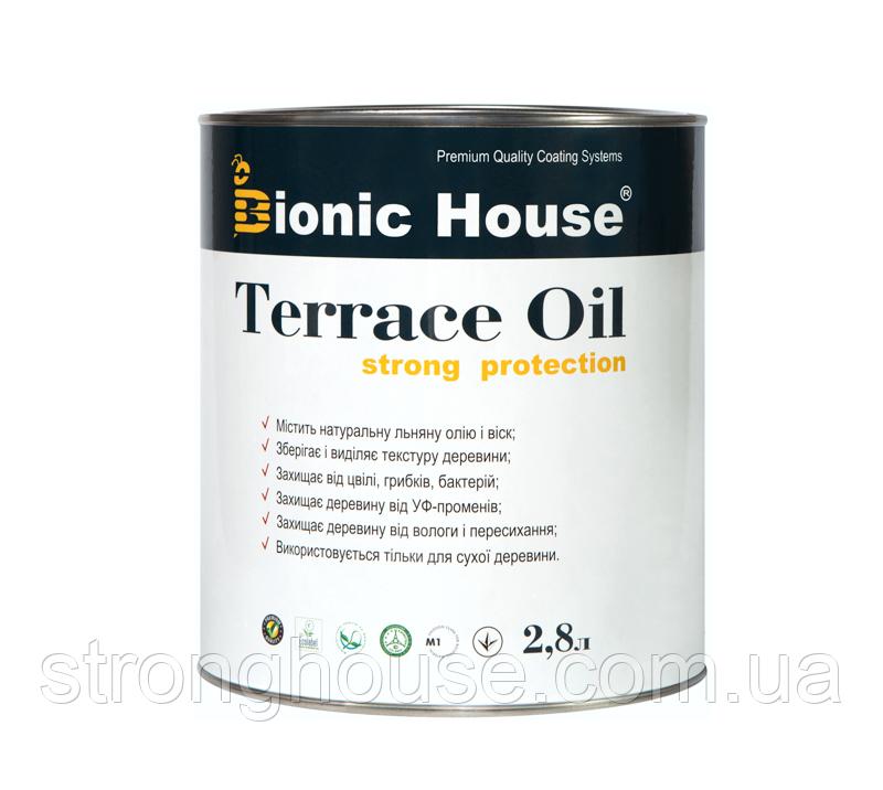Террасное масло Strong TERRACE OIL Bionic House на льняной основе с натуральным пчелиным воском 10л