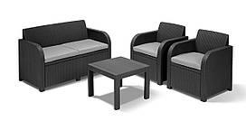 "Комплект мебели Keter Curver ""GEORGIA"" 17199879 (2 кресла, диван, стол)"