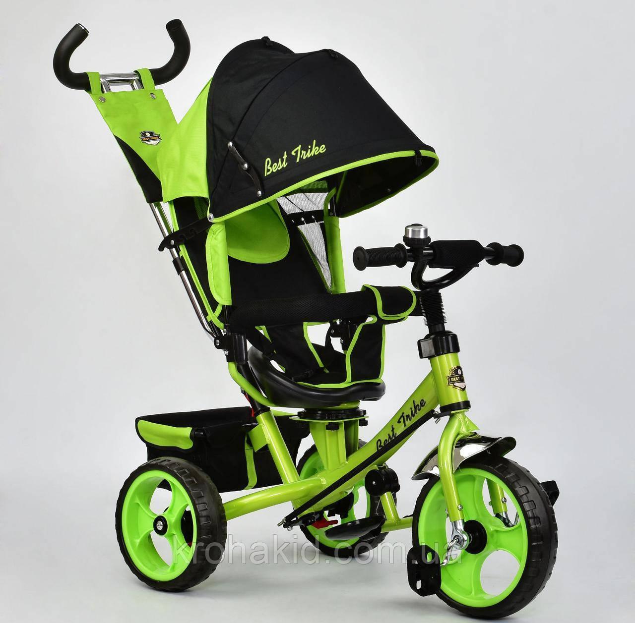 Велосипед трехколесный 5700 - 4120 САЛАТОВЫЙ ПОВОРОТНОЕ СИДЕНЬЕ, КОЛЕСА EVA (ПЕНА)