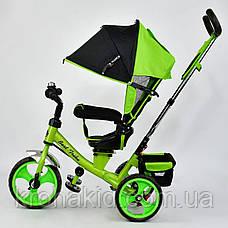 Велосипед трехколесный 5700 - 4120 САЛАТОВЫЙ ПОВОРОТНОЕ СИДЕНЬЕ, КОЛЕСА EVA (ПЕНА) , фото 2