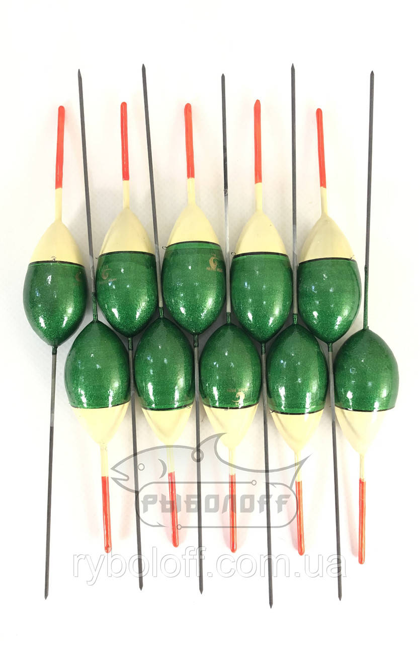Поплавок Trade Mark зеленый с песочным 12г