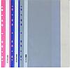 Папка-скоросшиватель Economix E31508-10 А4 с перфорацией рифленая прозрачный верх серая