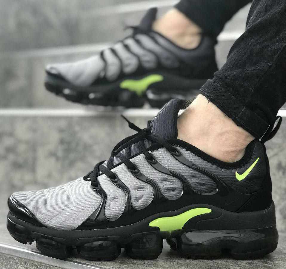 huge discount b51b7 95e75 Nike Air VaporMax Tn Plus black / wolf grey | кроссовки мужские;  спортивные; летние; черные-серые