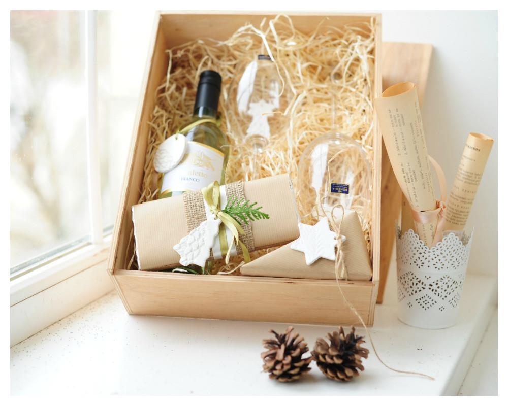 """Подарочный набор на Новый год """"Wine and Chees"""""""