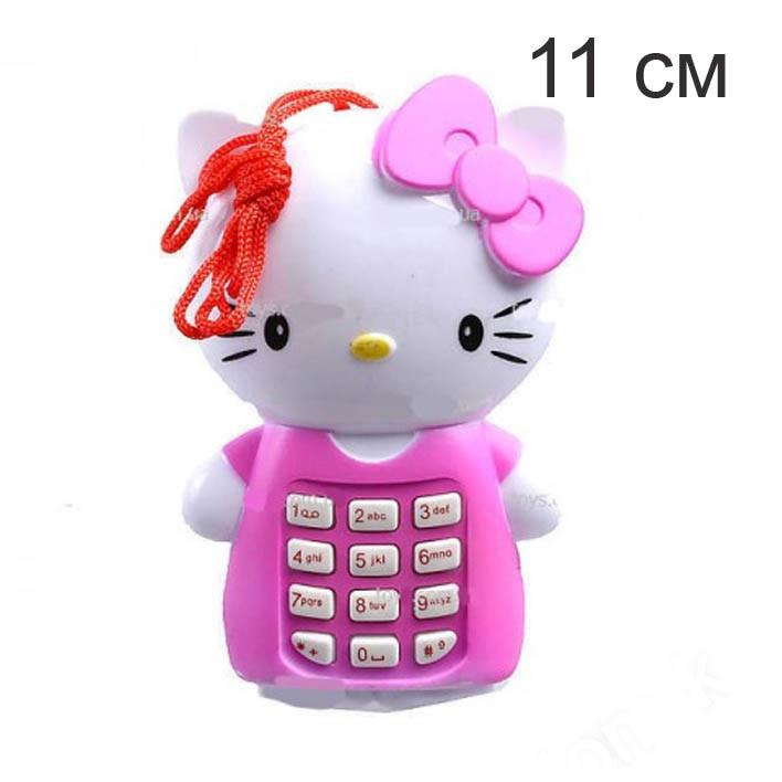 Игрушка телефон 11 см   Hello Kitty  (Красный)