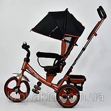 Велосипед трехколесный 5700 - 4340 БРОНЗОВЫЙ ПОВОРОТНОЕ СИДЕНЬЕ, КОЛЕСА EVA (ПЕНА) , фото 2