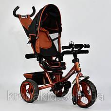 Велосипед трехколесный 5700 - 4340 БРОНЗОВЫЙ ПОВОРОТНОЕ СИДЕНЬЕ, КОЛЕСА EVA (ПЕНА) , фото 3