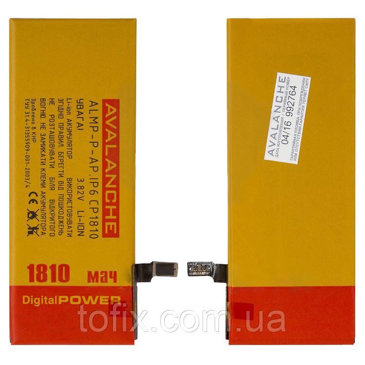 Батарея (акб, аккумулятор) Avalanche для iPhone 6, 1810 mAh, #ALMP-P-AP.iP6CP1810
