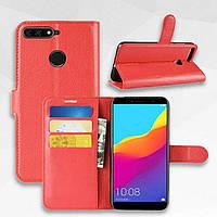 Чехол-книжка Litchie Wallet для Huawei Y6 Prime 2018 Красный