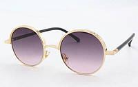 Солнцезащитные стильные очки  круглые 2020 фиолетовые