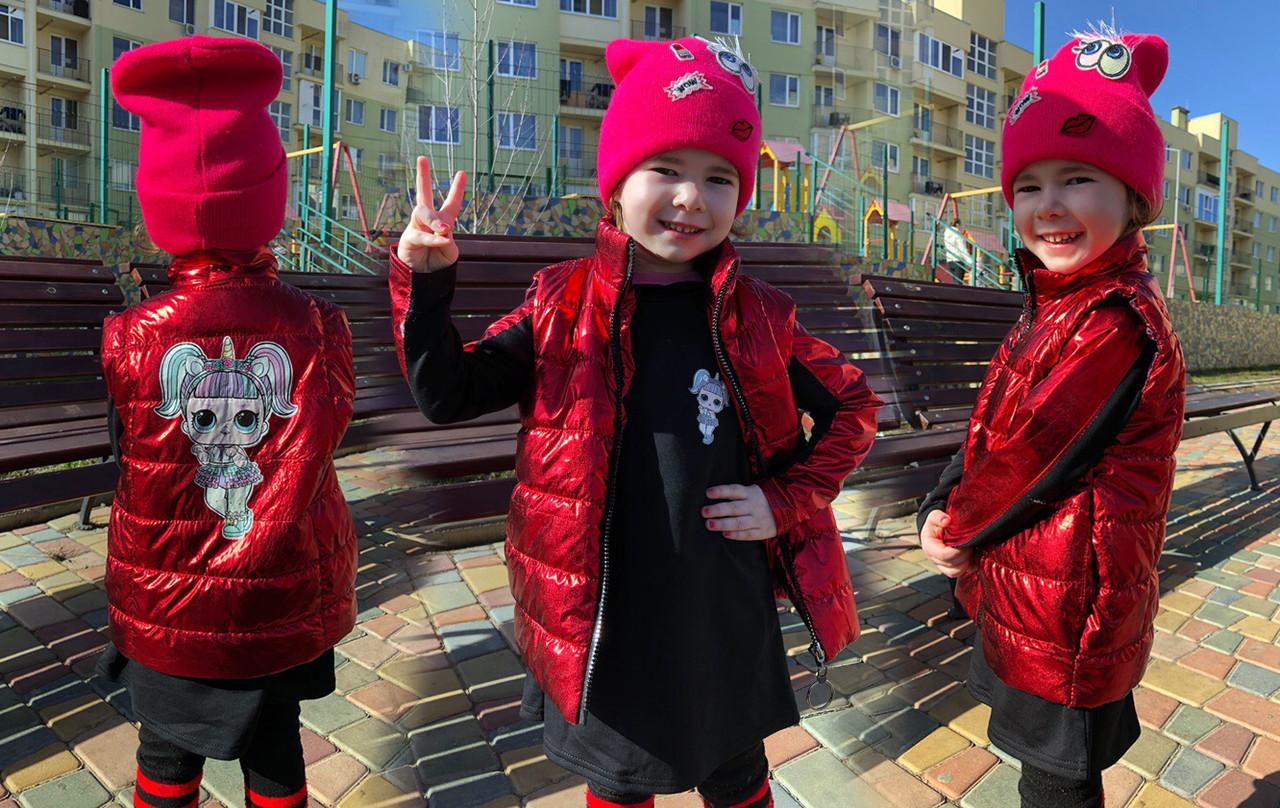 """Детский стильный комплект-двойка для девочки 364 """"LOL"""" в расцветках"""