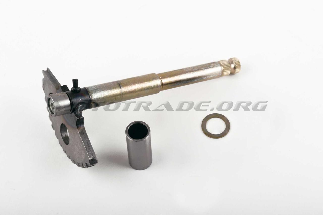 Сектор заводной (полумесяц)   4T GY6 125/150   (L-158mm)   (+втулки)   JH, компл.